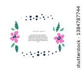 botanical text circle flat... | Shutterstock .eps vector #1384787744