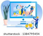 database management analysis... | Shutterstock .eps vector #1384795454