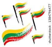 set of national symbols  ... | Shutterstock .eps vector #1384796477