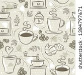 beige seamless patterns with... | Shutterstock .eps vector #1384797671