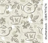 beige seamless patterns with... | Shutterstock .eps vector #1384797674