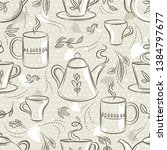 beige seamless patterns with... | Shutterstock .eps vector #1384797677