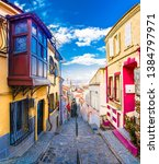 Ikicesmelik Street view in Izmir. Ikicesmelik is old residental district in Izmir.