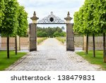 luxury iron gate to the... | Shutterstock . vector #138479831