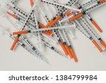 Pile Of Medical Syringes For...