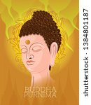 illustration of buddha purnima... | Shutterstock .eps vector #1384801187