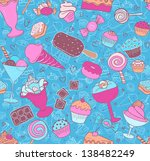 seamless pattern with candies... | Shutterstock .eps vector #138482249