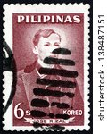 Small photo of PHILIPPINES - CIRCA 1962: a stamp printed in Philippines shows Jose Rizal, Portrait, National Hero, Nationalist and Reformist, circa 1962