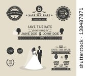 set of wedding typography | Shutterstock .eps vector #138487871