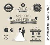 set of wedding typography | Shutterstock . vector #138487874