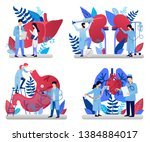 medicine vector illustrations... | Shutterstock .eps vector #1384884017