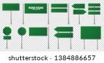 road green traffic signs set.... | Shutterstock .eps vector #1384886657