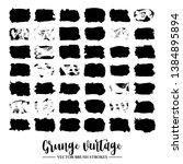 set of black brush stroke and...   Shutterstock .eps vector #1384895894