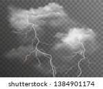 vector realistic stormy clouds...   Shutterstock .eps vector #1384901174