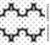 design seamless monochrome... | Shutterstock .eps vector #1384909421