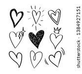 vector original set of doodle... | Shutterstock .eps vector #1384927151