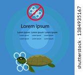 plastic pollution in sea  stop... | Shutterstock .eps vector #1384935167