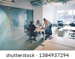 diverse group of coworkers... | Shutterstock . vector #1384937294
