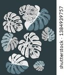 vector tropical pattern with... | Shutterstock .eps vector #1384939757