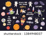 big set of cute animal... | Shutterstock .eps vector #1384948037