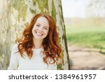 pretty happy young woman... | Shutterstock . vector #1384961957