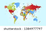 color world map vector modern | Shutterstock .eps vector #1384977797