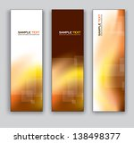 vector banners. set of three.... | Shutterstock .eps vector #138498377