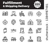 fulfillment and shipping... | Shutterstock .eps vector #1384987481