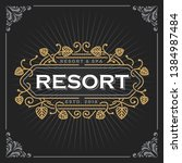 resort and spa logo. vintage... | Shutterstock .eps vector #1384987484