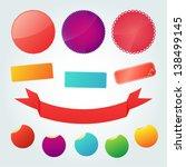 set of vector design labels | Shutterstock .eps vector #138499145
