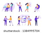 business people working... | Shutterstock .eps vector #1384995704