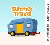 summer travel car vector... | Shutterstock .eps vector #1384996631