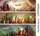 city skyline | Shutterstock .eps vector #138500684