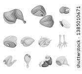 vector illustration of cuisine... | Shutterstock .eps vector #1385010671