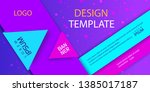 abstract banner of geometric...