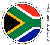 south africa flag sticker on...   Shutterstock .eps vector #1385017697