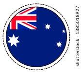 australia flag sticker on white ...   Shutterstock .eps vector #1385018927