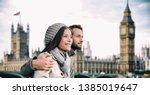 happy couple by big ben... | Shutterstock . vector #1385019647