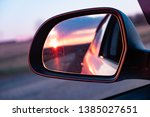 the reflection of the setting...   Shutterstock . vector #1385027651
