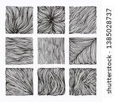 hand drawn wavy linear textures ... | Shutterstock .eps vector #1385028737