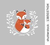 Cute Hand Drawn Vector Foxes I...