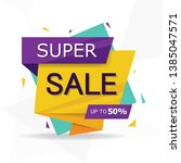 colorful shopping sale flyer... | Shutterstock .eps vector #1385047571