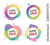 colorful shopping sale flyer... | Shutterstock .eps vector #1385047574