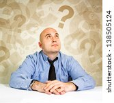 businessman thinking and... | Shutterstock . vector #138505124