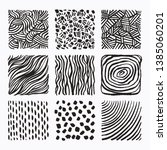 hand drawn textures and brush... | Shutterstock .eps vector #1385060201