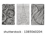 hand drawn wavy linear textures ... | Shutterstock .eps vector #1385060204