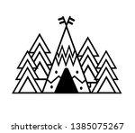 wild life sticker. travel... | Shutterstock .eps vector #1385075267