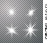 vector set of glare lighting ... | Shutterstock .eps vector #1385102141