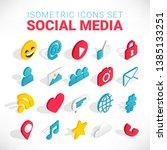 isometric social media flat... | Shutterstock .eps vector #1385133251
