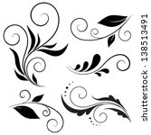 calligraphic design elements | Shutterstock .eps vector #138513491